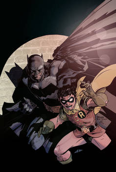 Batman And Robin Jim Lee Flats By Flat Out Colours