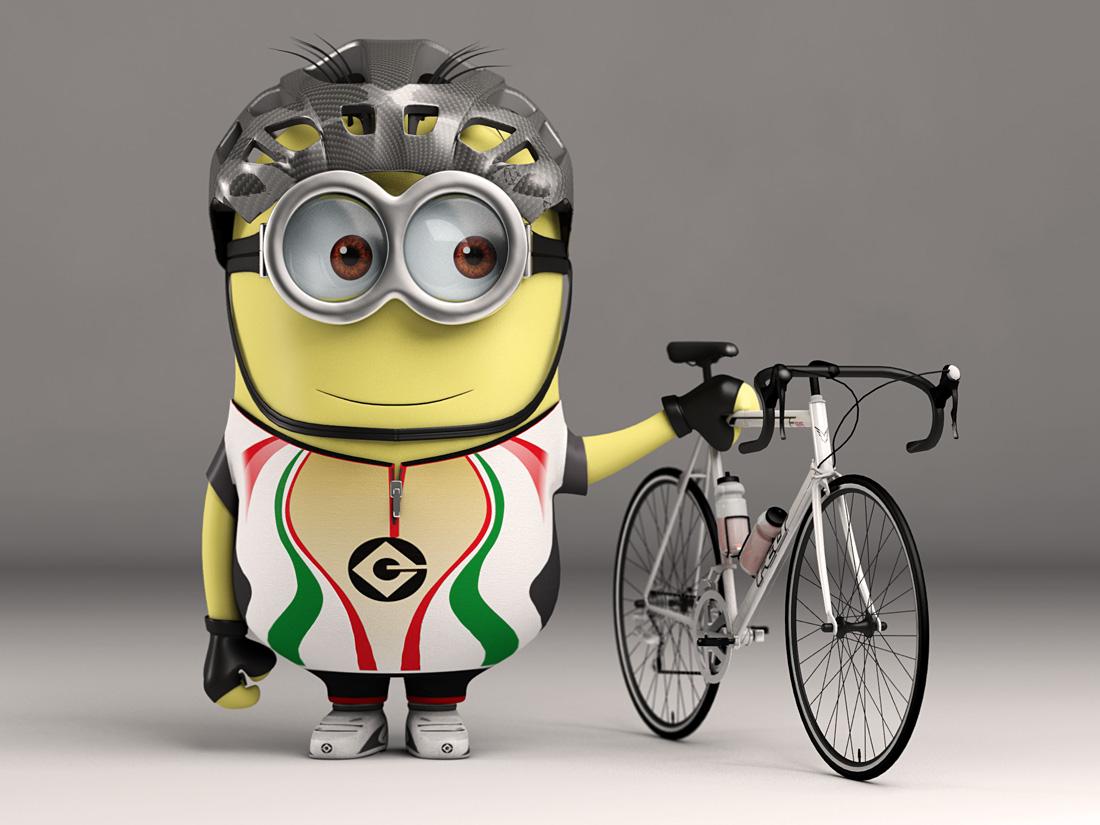 Minion Cyclist by nazmoza on DeviantArt