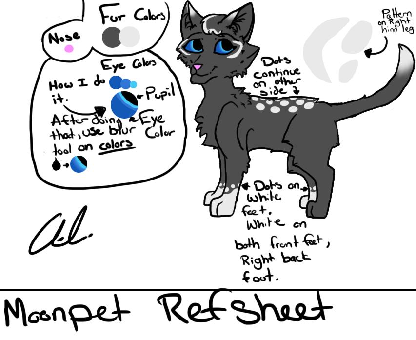 Moonpelt Ref-Sheet by hawkbreath1