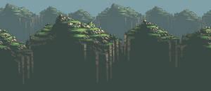 Grass Mountains Background