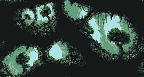 Jungle Cave Background