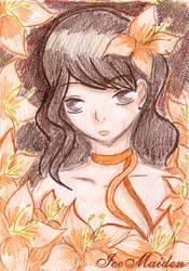 Orange flowers fairy by Ice--Maiden
