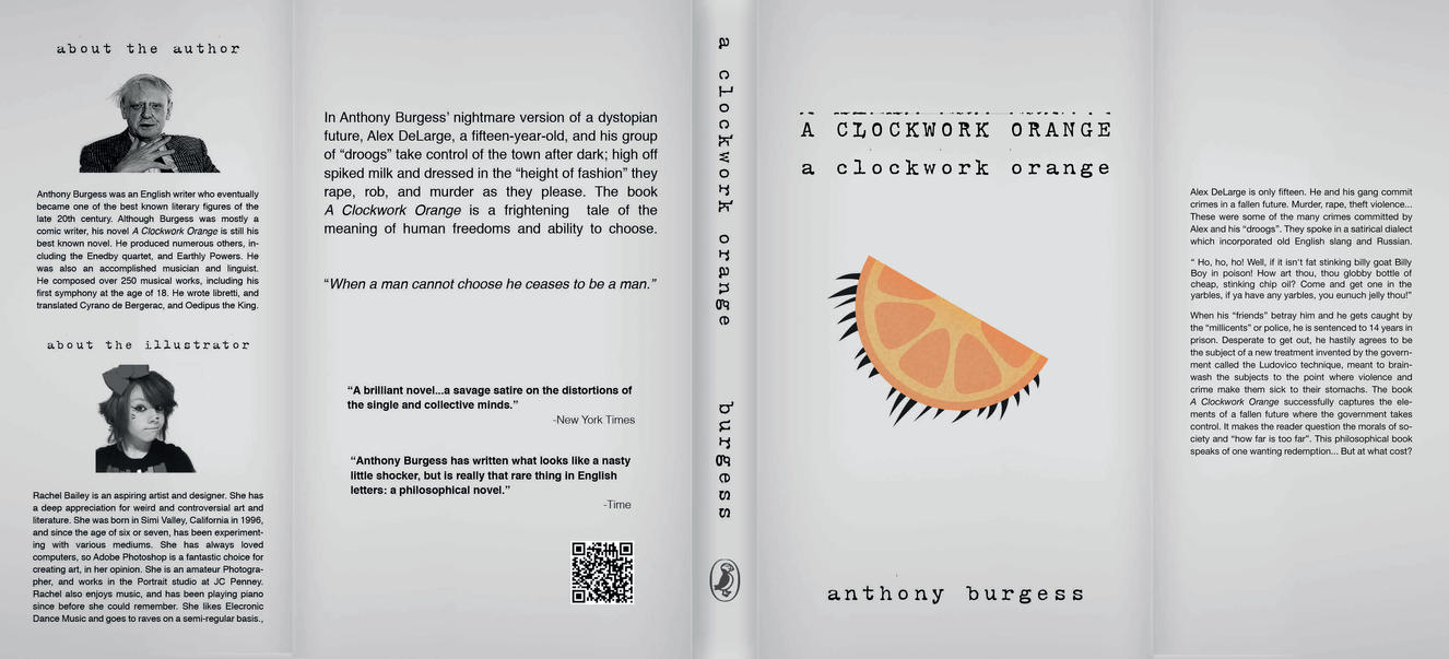 Fashion Book Cover Name ~ A clockwork orange book cover redesign by itsrachul on