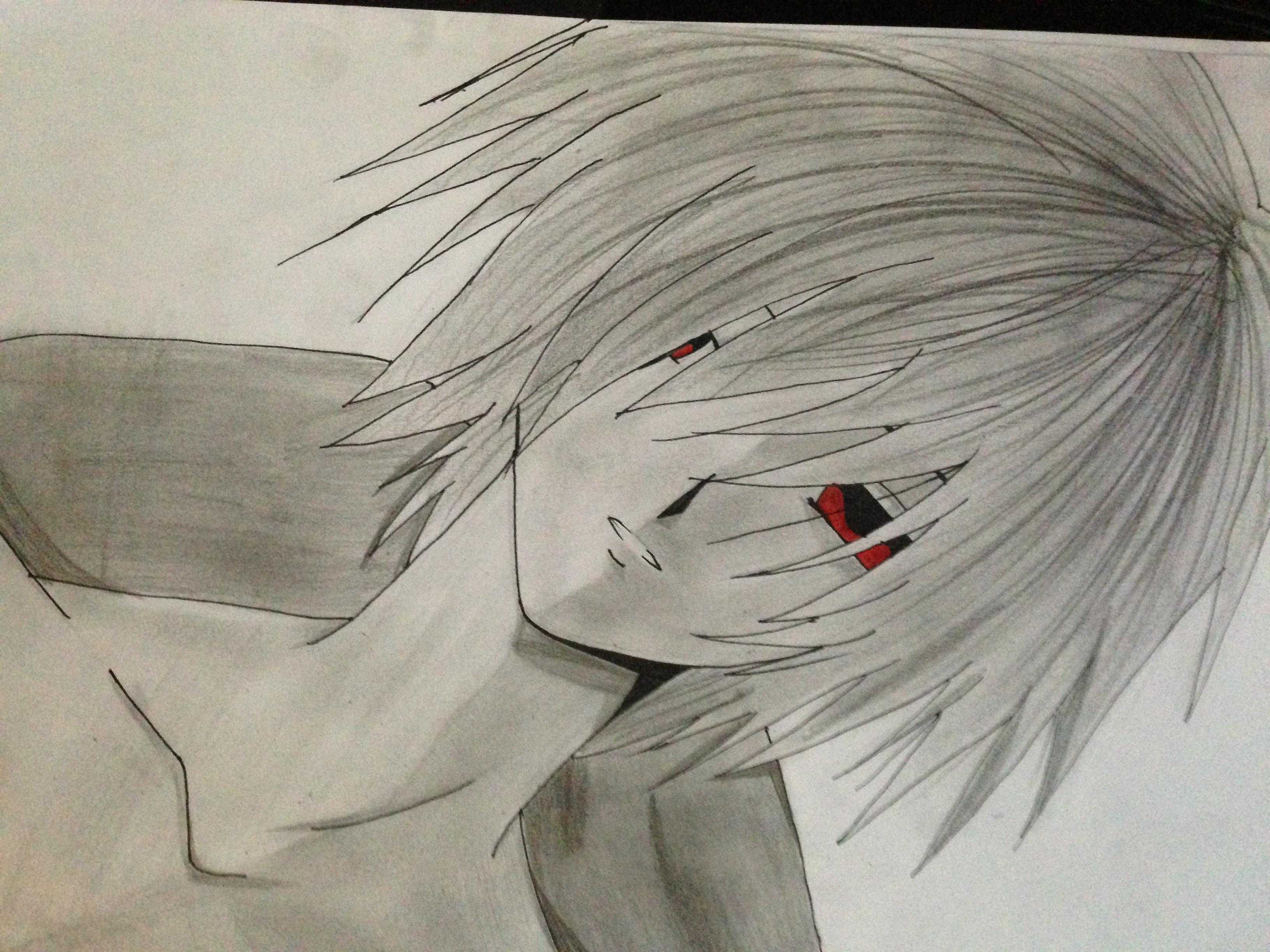 sad anime boy in the rain 23123 loadtve