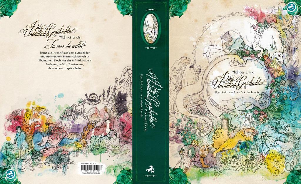 Die Unendliche Geschichte - Buchcover by wuselarts