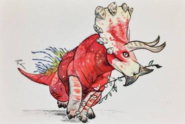 Triceratops by Argema-Brassingtonei
