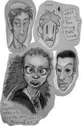 Todays doodles by Argema-Brassingtonei