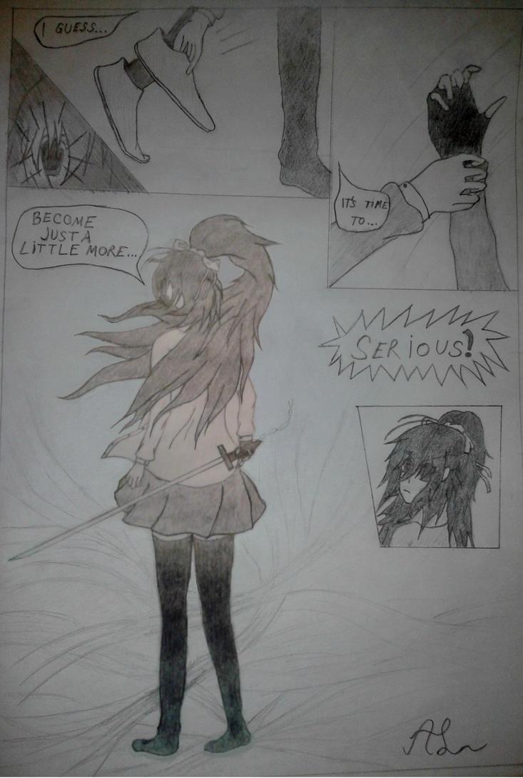 [OC] Mishiku Drawing - Mishiku Serious by Elegant-Blossom