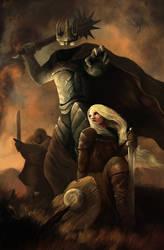 Eowyn vs Nazgul by ArtOfBenG