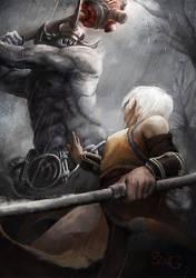 Duel: Monk vs Berserker by ArtOfBenG