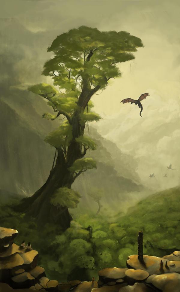 Urkon landscape by ArtOfBenG