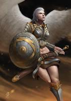 The White Raven by ArtOfBenG