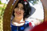 Snow White on the mirror by astripedbunny