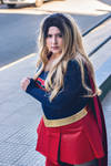 Supergirl by astripedbunny
