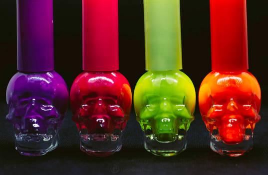 Bright Colored Skulls