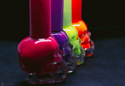 Bright Colored Skulls II