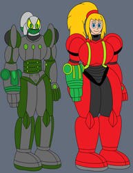 Big-time And Samus Power Suits by bigtime99