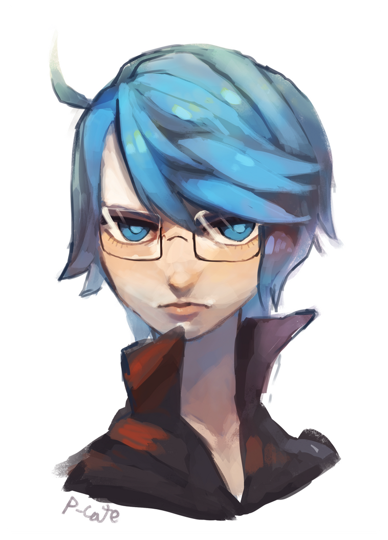 Laurence Headshot+PAINTING PROCESS by P-cate