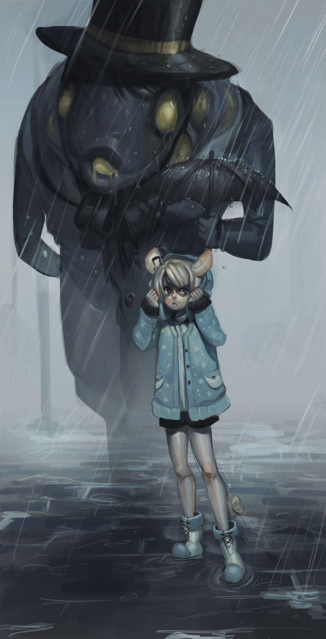 The rain is being gentle today - happy b-day izu by P-cate