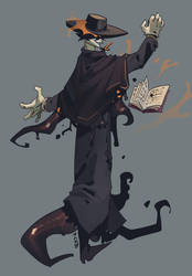 The dark priest-commission by P-cate