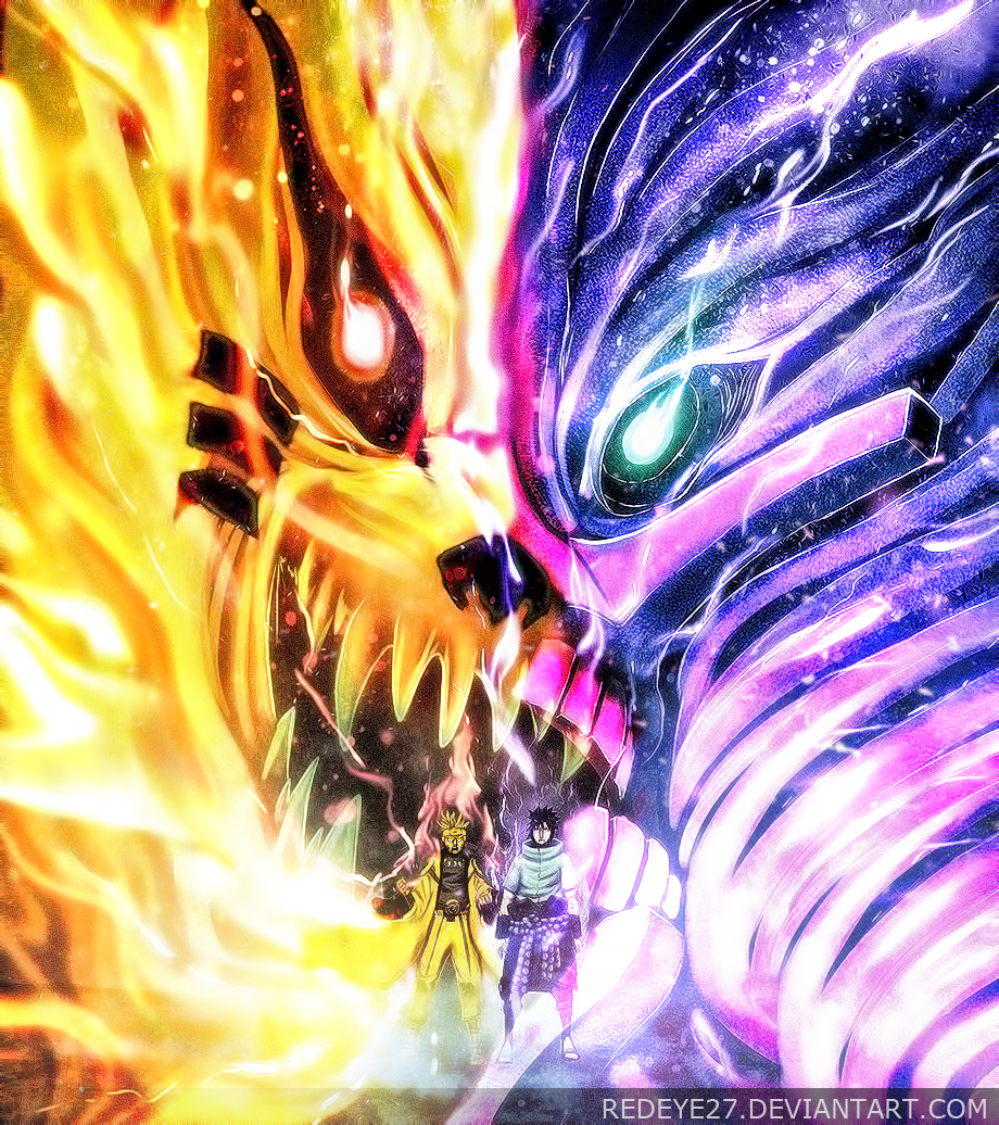 Pictures of Naruto Nine Tails Vs Sasuke Susanoo - #rock-cafe