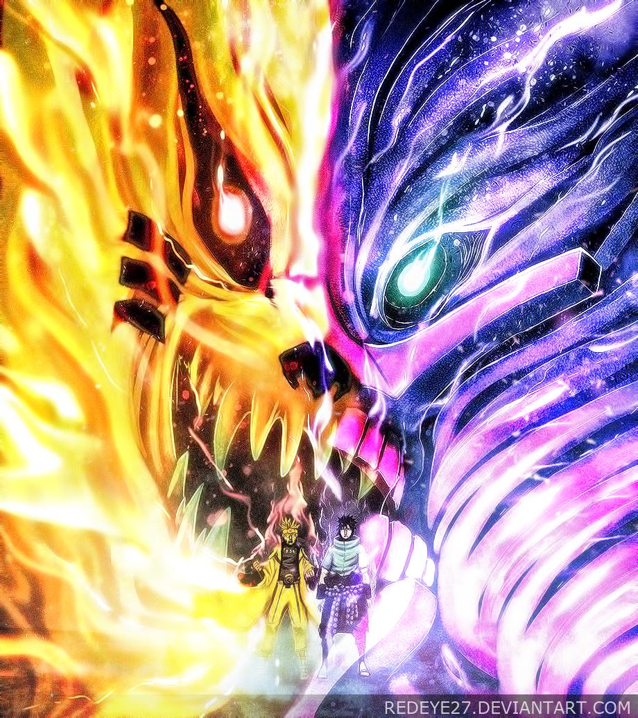 Naruto Sasuke - kyubi ~ Susano'o by Redeye27 on DeviantArt