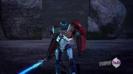 Optimus Prime con Star Saber by Cyberluna1994