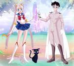 Sailor Moon e Tuxedo Kamen prototype (my version)