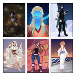 Aspheera,Unagami,SkullSorcerer,Akita,Antonia,Vania
