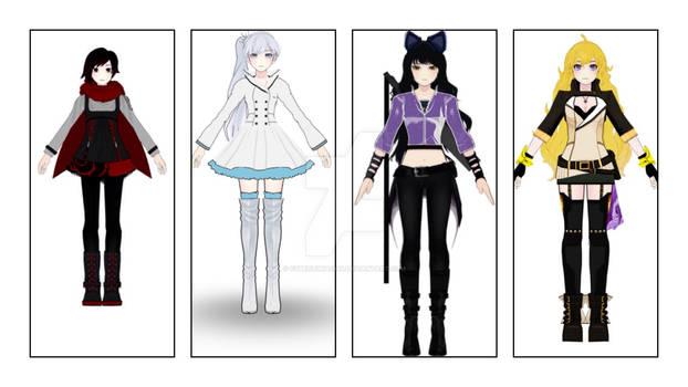 Team RWBY Alternate Outfit (my version)