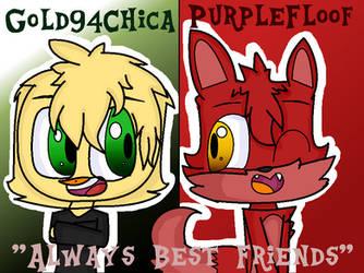 Gold94Chica, And PurpleFloof by xXFluffyWolfGirlXx