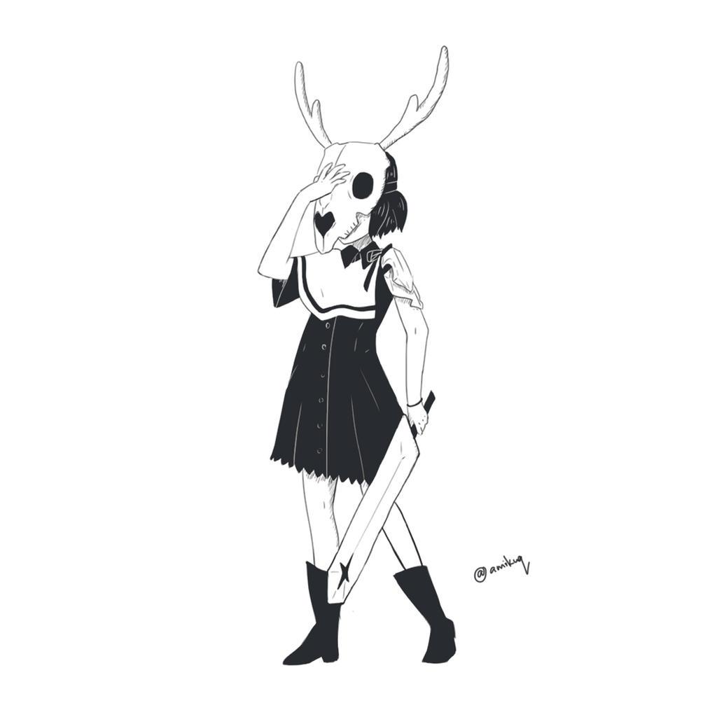Skull Head by amikuq1010