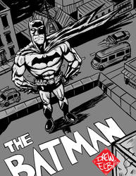 Batman Rooftop by DREWELBI