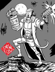 Hellboy 25 by DREWELBI