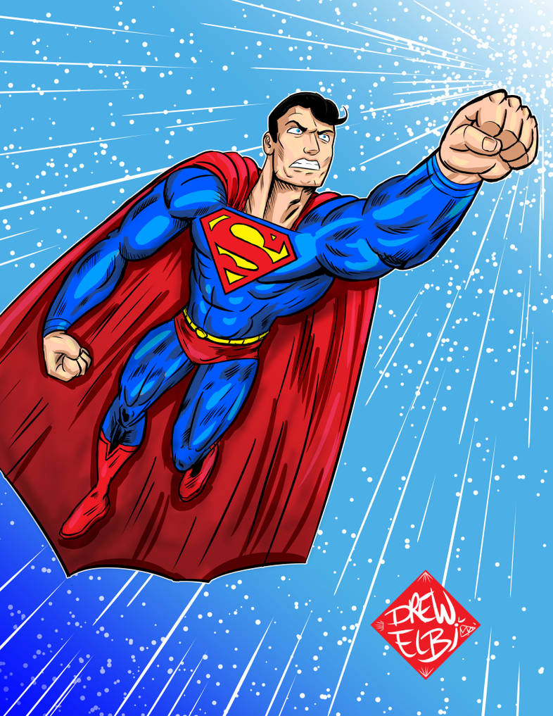 Superman by DREWELBI