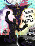Black Panther and Storm BlackLivesMatter