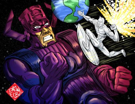 Silver Surfer vs Galactus