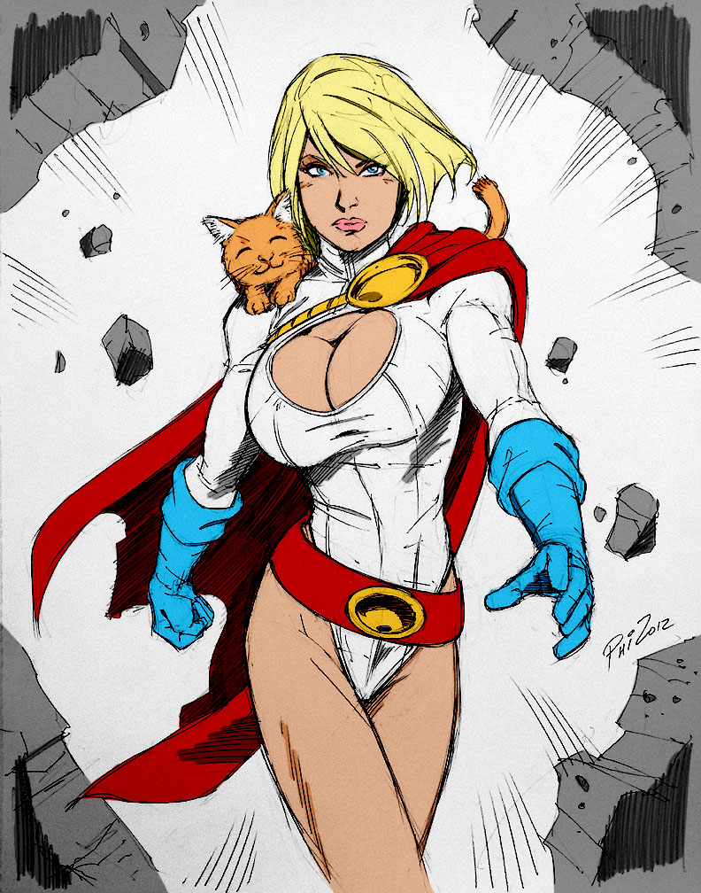 Philip Moys Power Girl 02 by Kenkira
