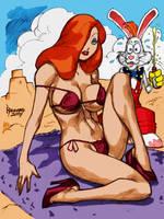 Jessica n Roger at the beach by RyanKinnaird by Kenkira