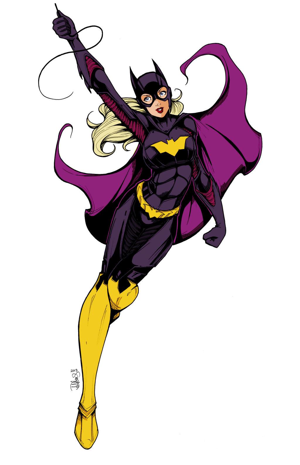 Batgirl Dcnu Lineart By Dalexisstpierre-steph by Kenkira