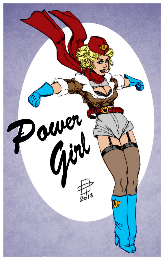Bombshell Power Girl By Callmepo by Kenkira