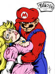 Mario and Peach by c-dubbkitari5 and Inker-guy