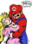 Mario and Peach by c-dubbkitari5 and Inker-guy