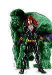 Hulk And Widow 06 14 By Huy Truong