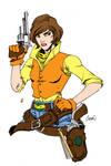 April O Neil  Tmnt  Gunslinger By Redcole84