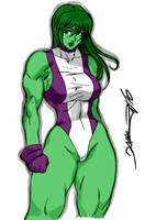 She Hulk by Daikon by Kenkira