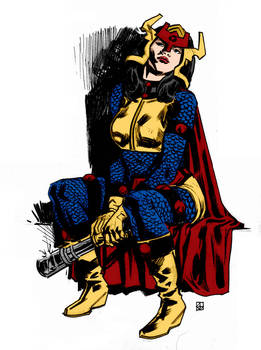 Big Barda Sketch By Deankotz
