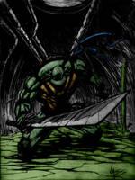 Tmnt Leonardo Sketch By Vass-Comics by Kenkira
