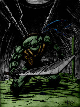 Tmnt Leonardo Sketch By Vass-Comics