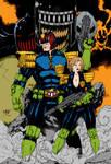Judge Dredd And Judge Anderson By Leomatos2014